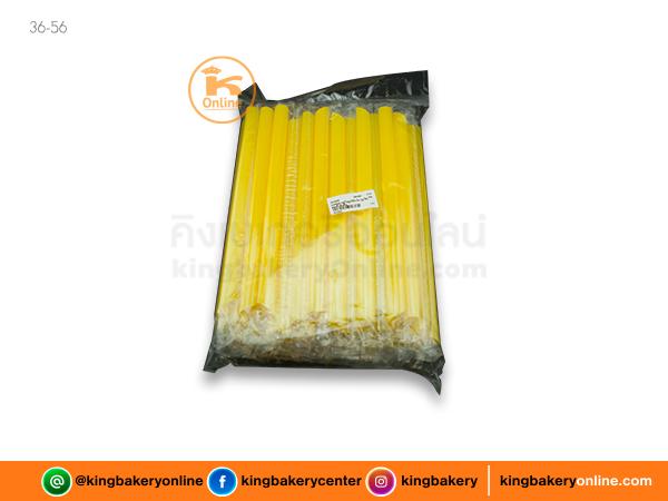 หลอดชานมไข่มุกไต้หวัน (ถุงใส) คละสี 50 เส้น