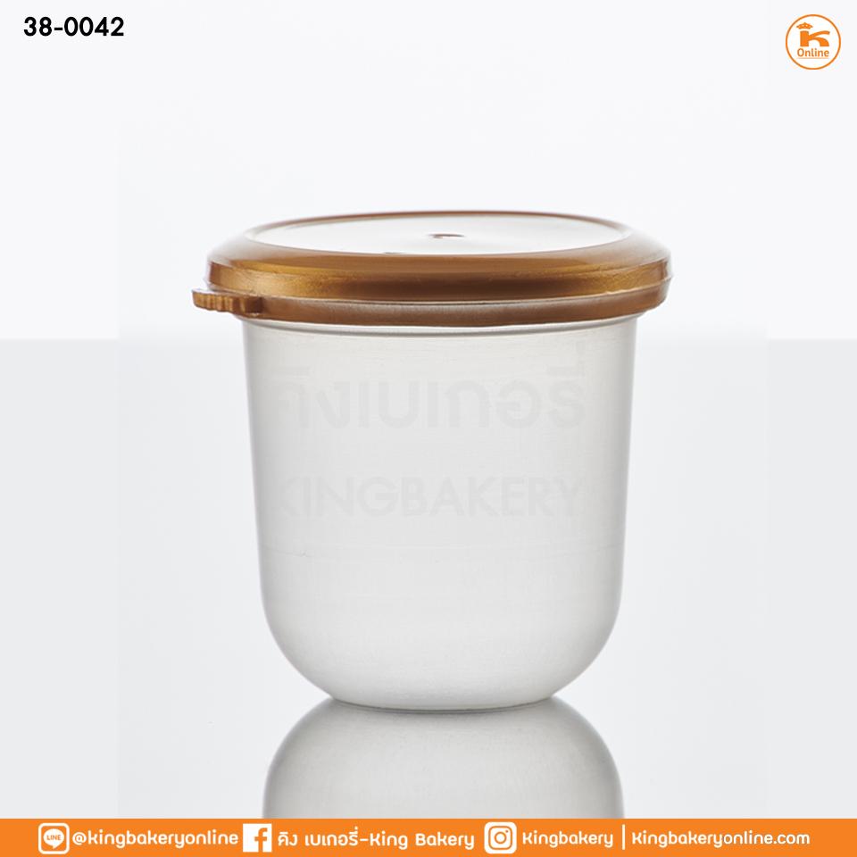 ถ้วยแคปซูล PP 6 oz. ฟรุตสลัด+ฝาทอง (20ใบ) (ลังX25แถว)